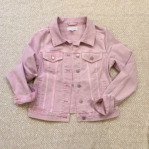 LOFT Pink denim jacket. Size small.